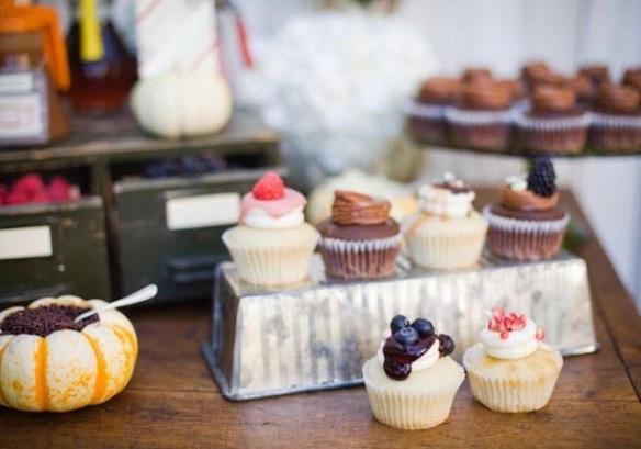 mesa de dulces cupcakes
