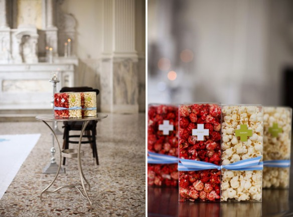 packaging popcorn wedding